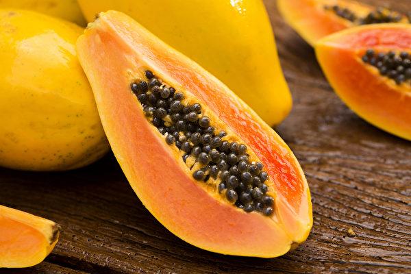 木瓜含丰富维生素A,能保护眼睛,防止与年龄相关的老年性黄斑部病变。(Shutterstock)
