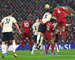 英超第23轮,利物浦在主场2:0力克曼联