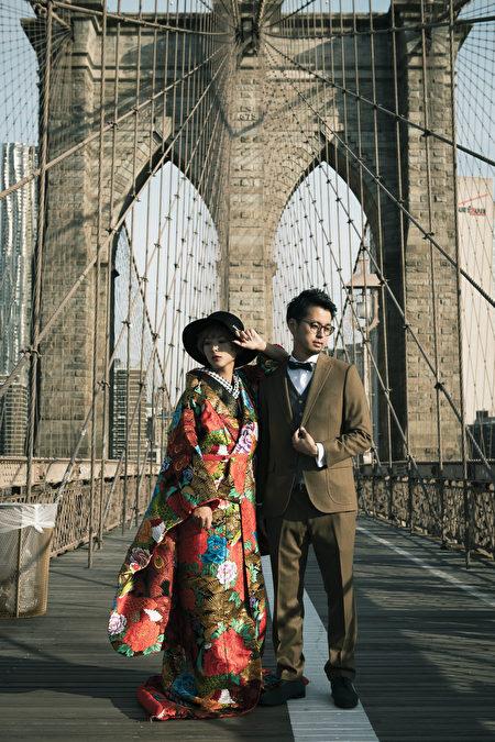 图为新锐华裔摄影师郑柏君为客户拍的婚纱照。