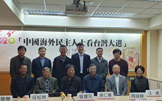 台灣自由民主 海外觀選團:盼輸出中國