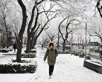 1月6日,北京降雪情況。(GREG BAKER/AFP via Getty Images)