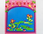 【手作卡片】 黏土花飾賀年卡