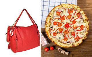 """创意家做大披萨背包 背着出门好看又好""""吃"""""""