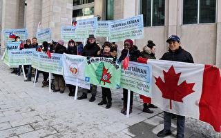 加国台侨蒙城抗议 吁世卫组织接纳台湾