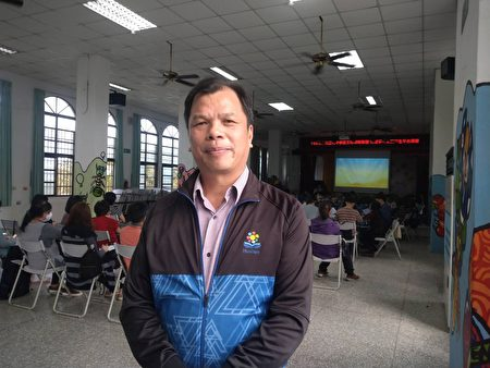 光复国小林万男校长谈到透过这次的五个学校的策略联盟教师研习,能让老师们对汉字有更进一步的认识。