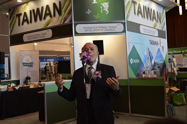 圖:台灣再次參加溫哥華的全球永續環境展,以國家館形式搶佔北美商機。(邱晨/大紀元)