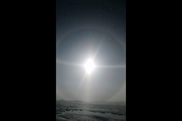 內蒙古罕見「5個太陽」 疫情下的幻日奇觀