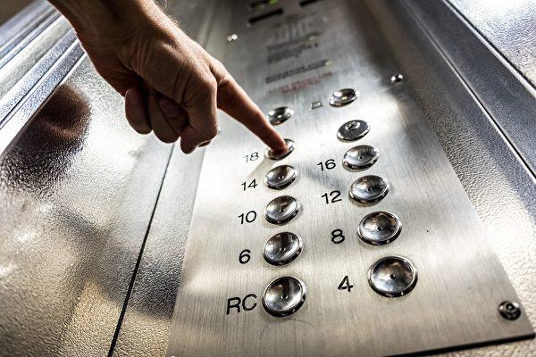 電梯空間狹小,但通常有大量民眾進出,且按鈕可能殘留病毒,是容易發生中共肺炎(俗稱中共肺炎)傳染的地方。(Pixabay)