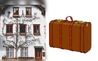 """皮箱中无法打包的""""家"""" 微缩模型重现难民的思念"""