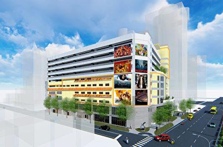 竹北市立体停车场BOT案模型图