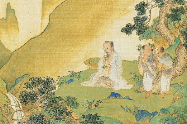 神農即炎帝,他不僅為政是帝王之聖賢,開創了農業、飲食文化,中醫和中藥也是他所奠基。圖為神農氏像,出自明仇英《帝王道統萬年圖》(公有領域)
