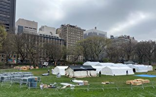 【現場視頻】紐約中央公園建戰地醫院 31日投用