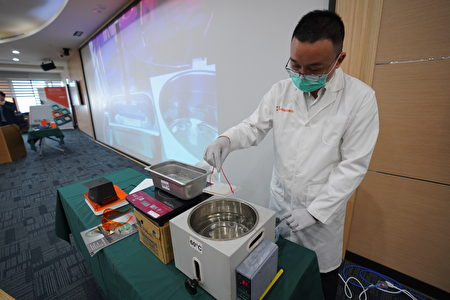 鴻林堂已研究出酵素、試劑加上熱水是最簡易的快篩方式