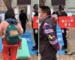 贵州省贵阳一中高三开学,学生陆陆续续进学校。(视频截图)