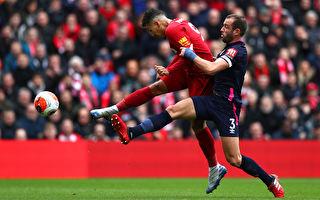 英超第28輪,利物浦主場2:1逆轉擊敗伯恩茅斯