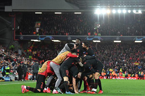 欧冠16强赛:马竞补时连进3球淘汰利物浦