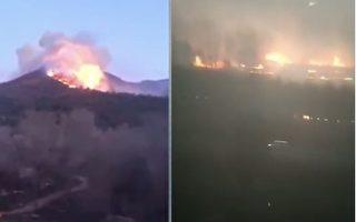 【现场视频】风吹保护套卷轿车 几百户面临火灾