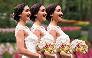 谁跟谁是一对?3胞胎姐妹嫁3胞胎兄弟的婚礼