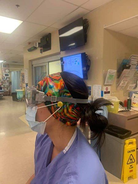 哥倫比亞醫院護士防護耳朵護目鏡口罩導致壓瘡