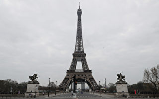 组图:巴黎封城抗疫 名胜景点一片寂静
