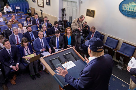 WASHINGTON, DC - MARCH 14: U.S. President Donald Trump speaks in the press briefing room at the White House on March 14, 2020 in Washington, DC. President Trump also told reporters he was tested for the novel coronavirus Friday night but did not reveal the results and said he did not know when he would get them. (Photo by Tasos Katopodis/Getty Images)