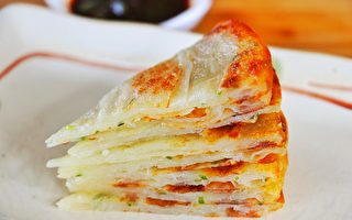 【美食天堂】家常葱油饼~酥脆松软 多层次口感
