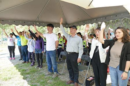 参与净溪人员宣誓遵守净溪护萤宣言。