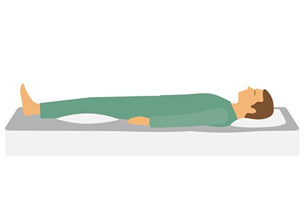 睡觉姿势不对,容易对脊椎带来损伤。(Shutterstock)