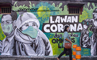 组图:中共病毒肆虐 各国街头涂鸦宣导防疫