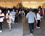 今天網傳視頻顯示,武漢楚河漢街上人來人往。(視頻截圖合成)