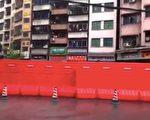 网传视频称,广东省广州市三元里瑶台村因疫情封锁了。(视频截图)