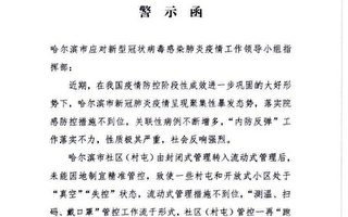 【獨家】中共密件承認哈爾濱疫情失控