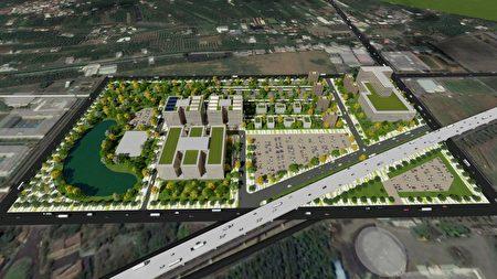 屏东县健康产业园区模拟示意图。
