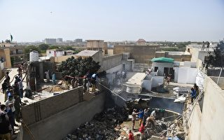 組圖:巴基斯坦客機在住宅區墜毀 全數罹難