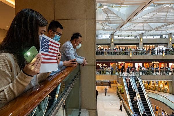 5月28日,港人在中环置地广场及商场内抗议。(Billy H.C. Kwok/Getty Images)