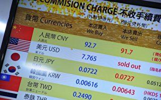 香港現兌換美元潮 兌換店其它外幣也清倉