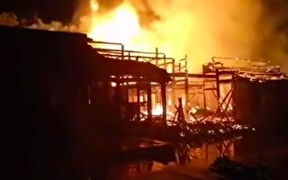 【现场视频】温州300多年的司马第大屋着火