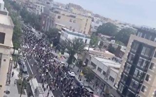 抗议明尼阿波利斯警察暴力 圣荷西示威者堵路