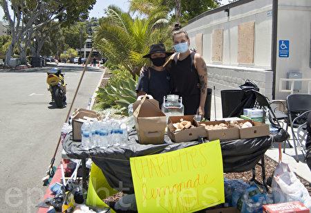 抗议变暴力 商家遭劫 社区伸援手