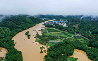 組圖:中國南方暴雨肆虐 廣西多地水浸
