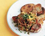 嫩煎豬排佐酪梨 自製甘醇「收汁醬料」添風味