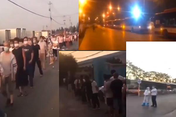 【现场视频】新发地万余人被隔离 公交车现长龙