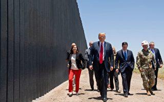 川普酷暑中访边界墙 谈DACA和H-1B
