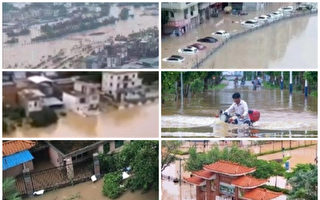 中国南方11省水灾 260万人受灾 北方高温