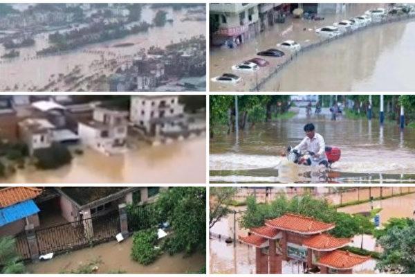 中国南方11省水灾 260万人受灾 北方大范围高温