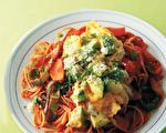 番茄肉醬義大利麵~酪梨拌入 懷舊洋食新配方