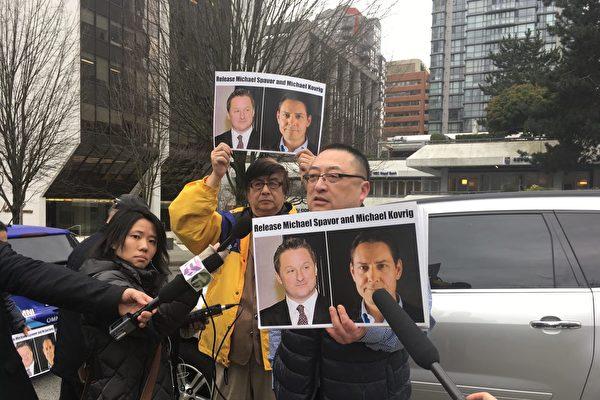 中共允許加外交官探視兩公民 特魯多謝川普