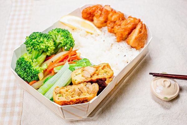 健康的减肥方法,每餐内容需有白米饭、蔬菜和肉类等蛋白质。(Shutterstock)