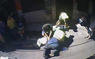妇人疑心肌梗塞昏迷 少年跪高温路面CPR救命