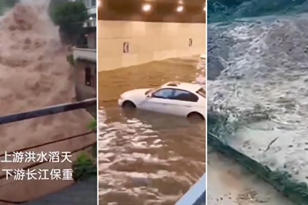 洪水来袭 重庆令江边4楼以下居民打包